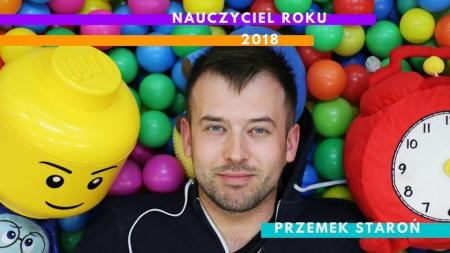 Przemysław Staroń nauczycielem roku 2018!