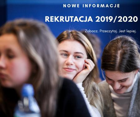 Rekrutacja 2019/2020 - zmiany!