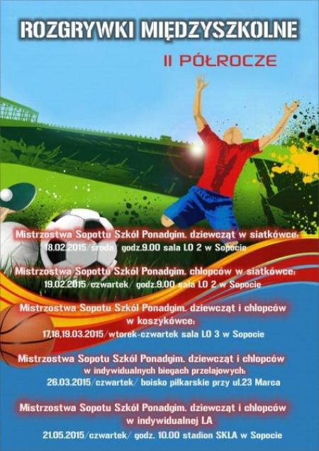 Terminarz imprez sportowych